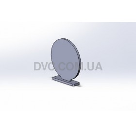 Тарелка круглая 15 см на  подставке (Hardox 500 - 10 mm)
