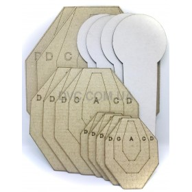 Комплект мишеней для Холостых тренировок - DVC Training Target Kit