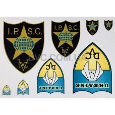 Набор наклеек IPSC Ukraine