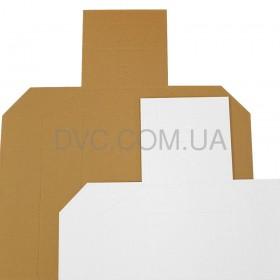 Мішень картонна МКПС метрична 100 шт - колір бiлий